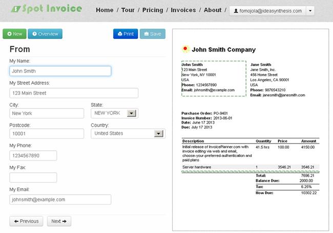 Spot Invoice Visual Invoice Design