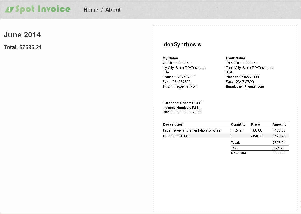 Google Invoices Pdf Spot Invoice  Visual Invoice Design Fake Oil Change Receipt Pdf with Star Receipt Printer Tsp100 Excel Embedded Invoices Psd Invoice Template Word
