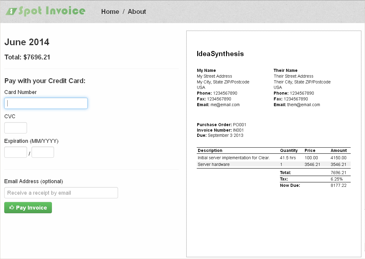 Good Host Payment Pages On Your Own Site Idea How To Make Your Own Invoice